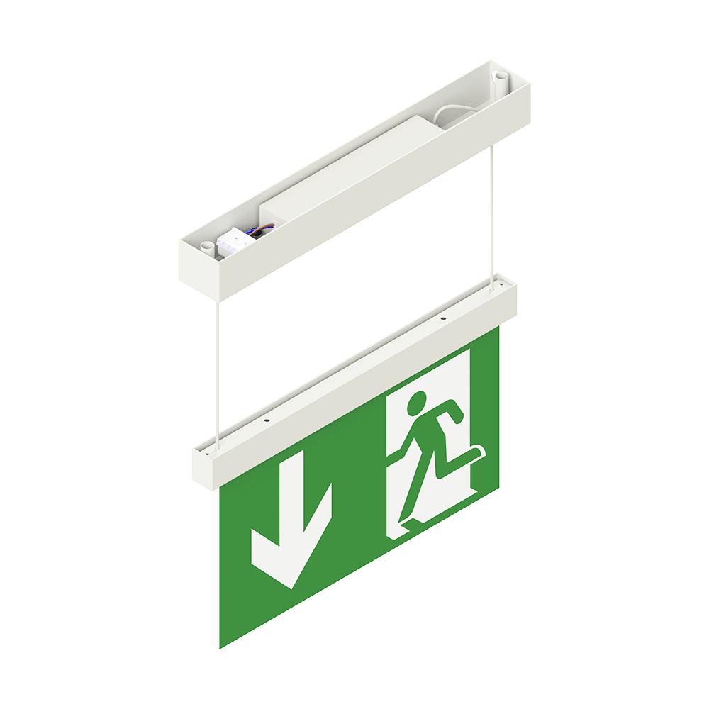 LED-Fluchtweg Symbol-Leuchte freihangend